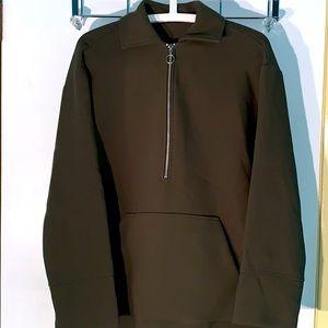 ZARA Oversized Half zip collared heavy sweatshirt